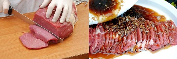 Bước 1 Sơ chế nguyên liệu Bò nướng cuộn phô mai