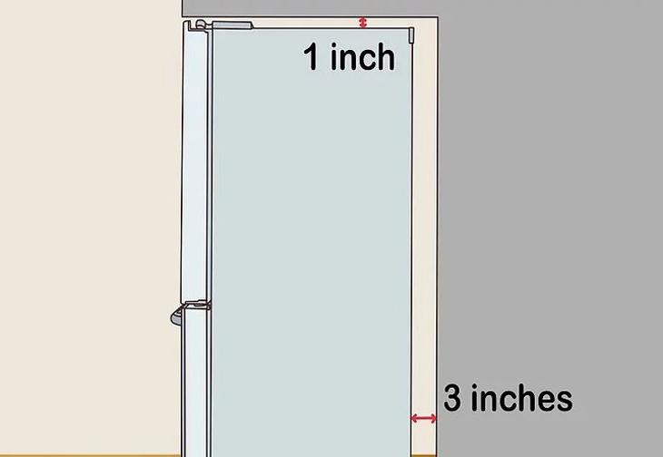 Kiểm tra khoảng cách giữa tủ và không gian đặt tủ