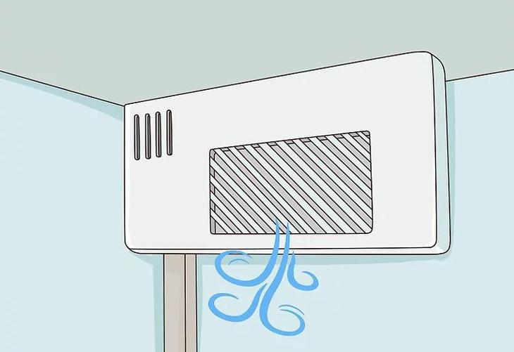 Kiểm tra lỗ thoát khí giữa ngăn đá và ngăn lạnh