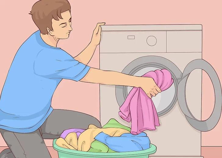 Chia nhỏ lượng quần áo cần giặt cho phù hợp với khối lượng giặt