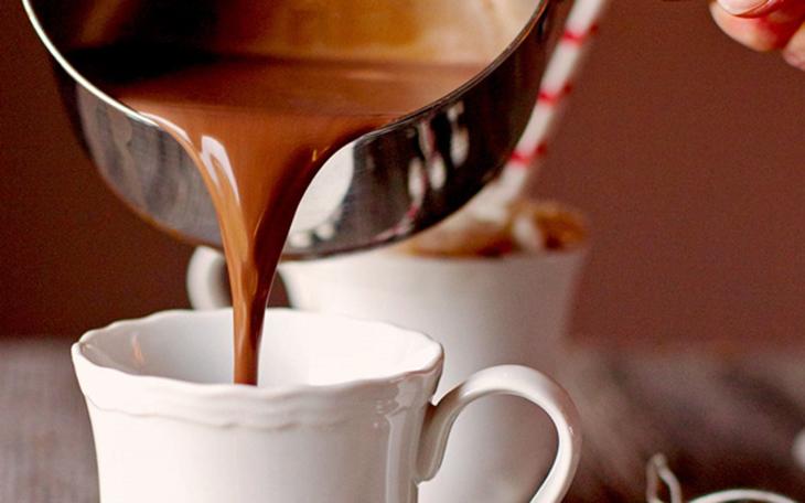 Bước 1 Thành phẩm Pha cacao nóng bằng bếp đun