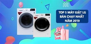 Top 5 máy giặt LG bán chạy nhất Điện máy XANH năm 2019