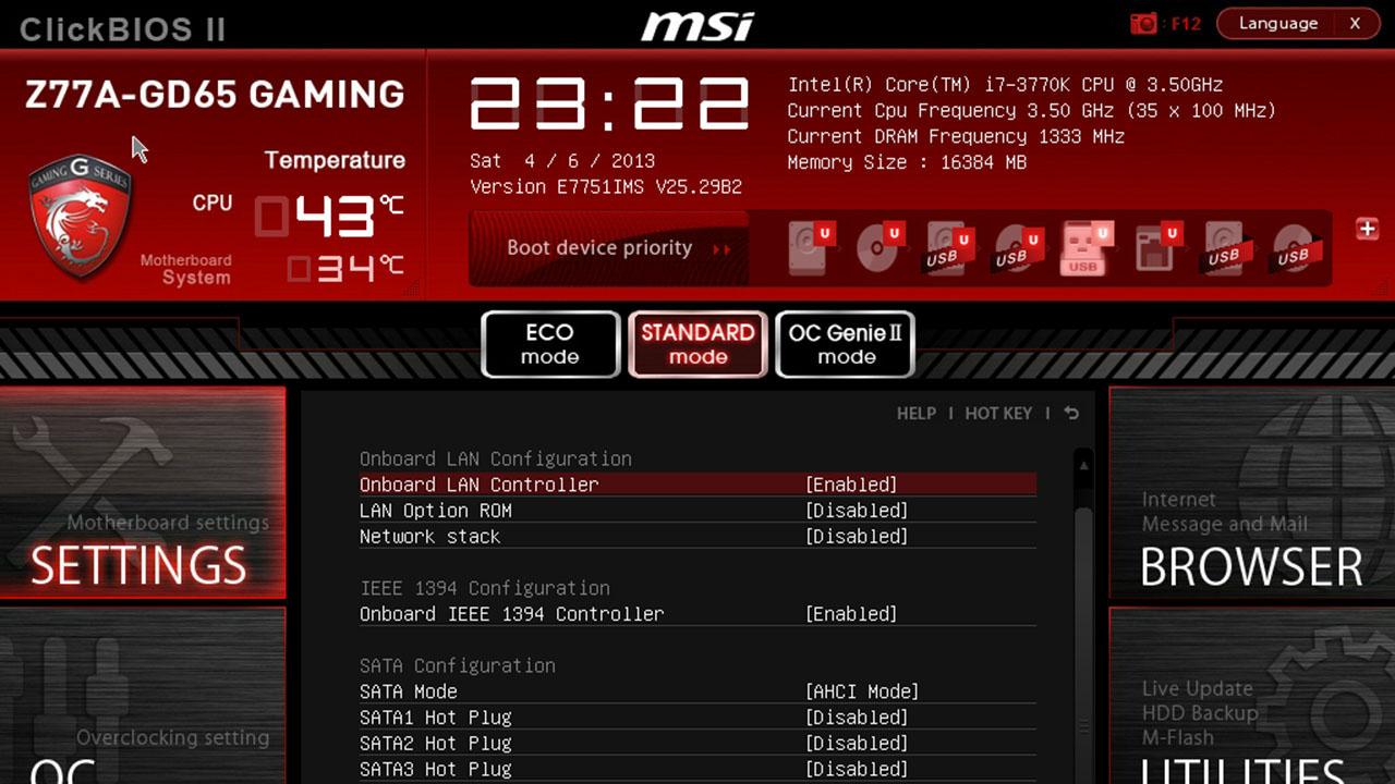 Menu BIOS giao diện mới