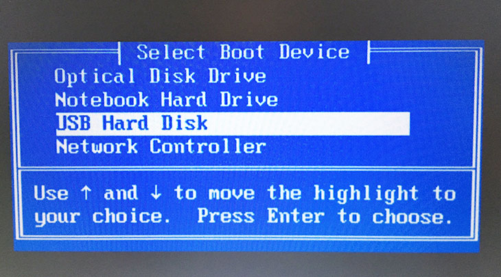 Giao diên menu Boot trên máy tính