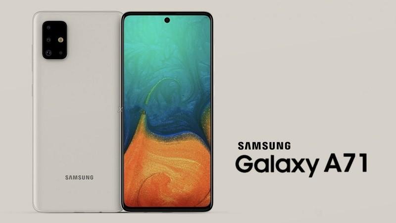 Galaxy A71 lộ ảnh với 4 camera sau hình chữ L, màn hình giống Galaxy Note 10