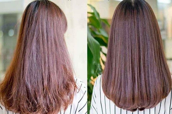 Tóc hư tổn dần được cải thiện