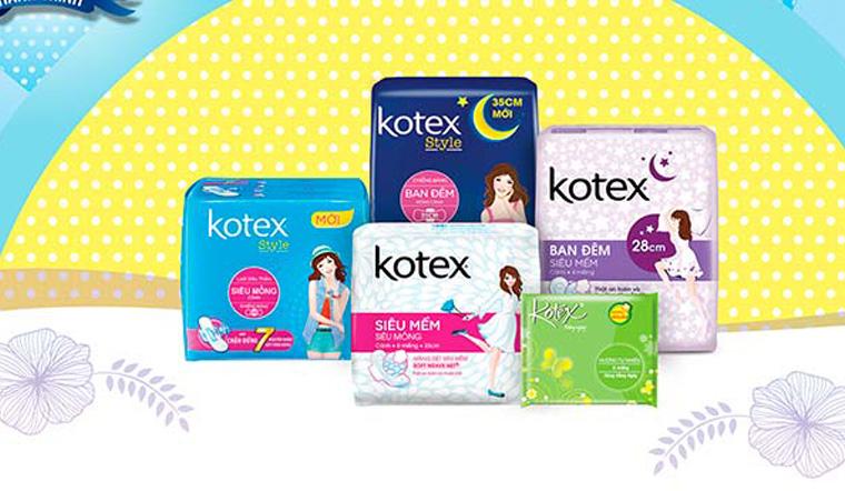 Băng vệ sinh Kotex có tốt không, gồm mấy loại?