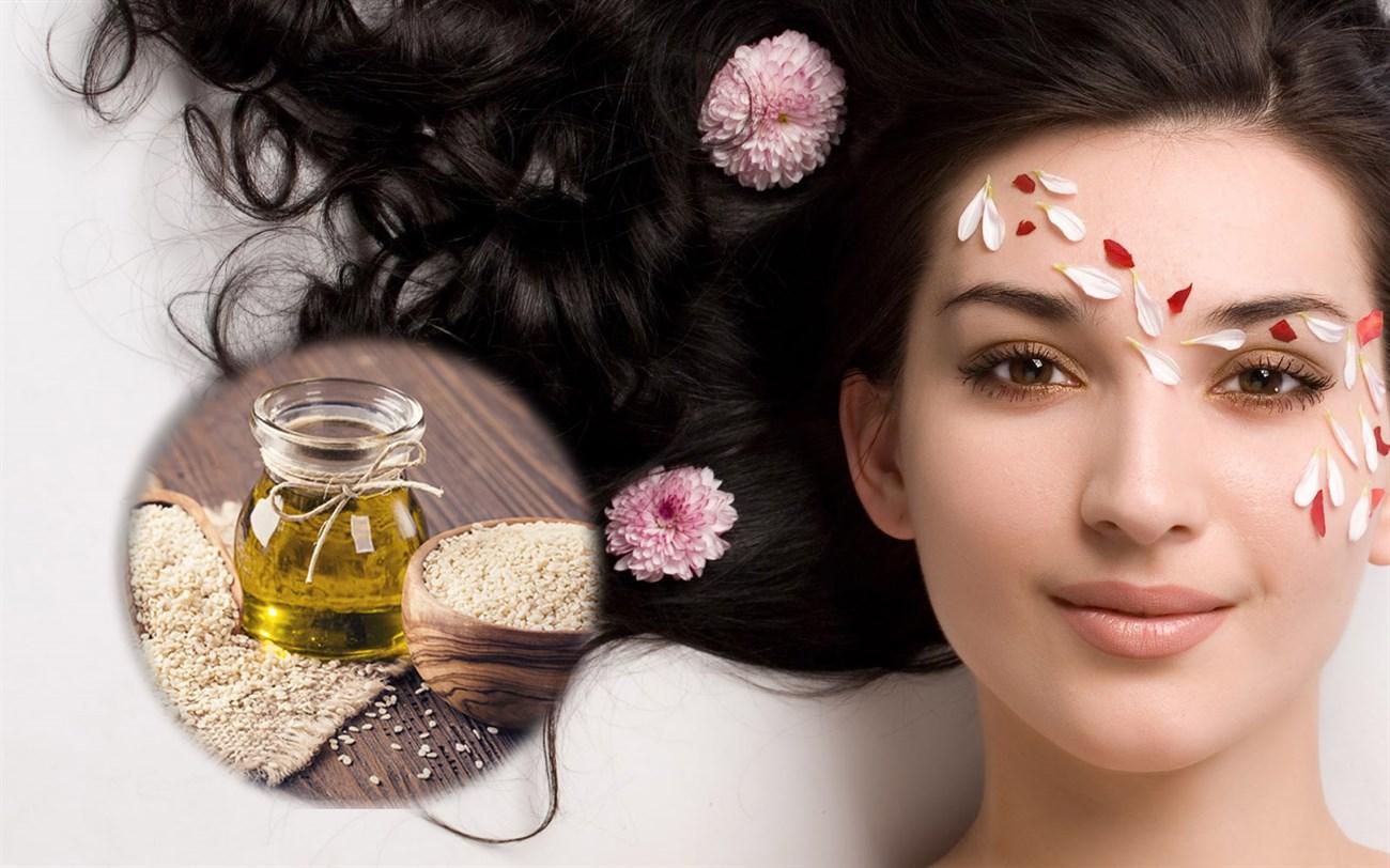 Dầu mè giúp bảo vệ da dầu, chăm sóc tóc, da trắng sáng hơn