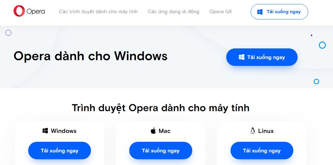 Hướng Dẫn Cai đặt Trinh Duyệt Opera Miễn Phi Vpn Tren May Tinh Laptop