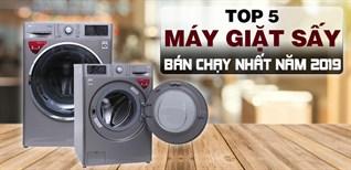 Top 5 máy giặt sấy bán chạy nhất Điện máy XANH năm 2019