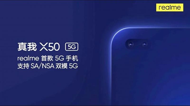 Realme X50 5G sẽ tích hợp camera selfie kép