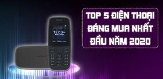 Top 5 điện thoại đáng mua nhất tại Điện máy XANH đầu năm 2020