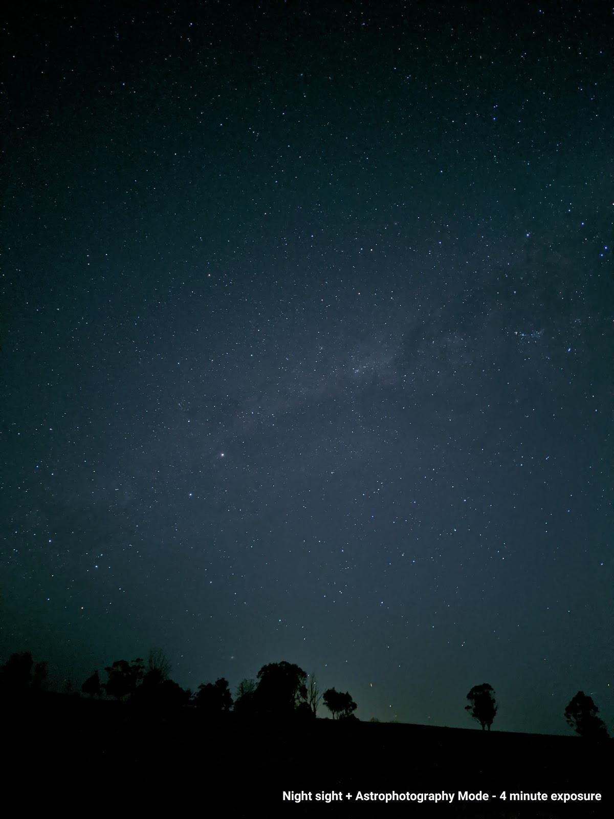 Chế độ chụp ảnh thiên văn trên Google Camera