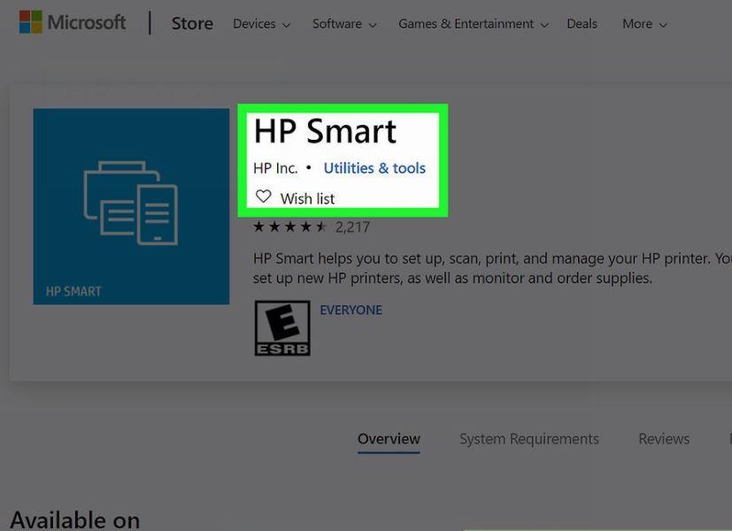 Mở ứng dụng HP Smart