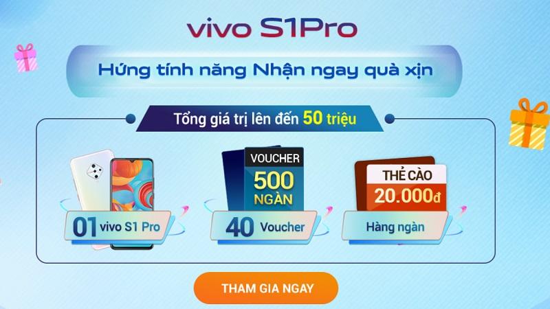 Chơi game trúng Vivo S1 Pro