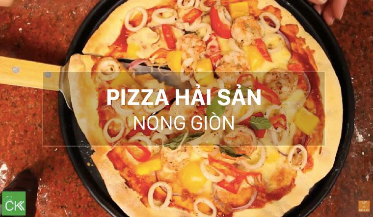 Cách làm pizza hải sản nóng giòn hấp dẫn ngay tại nhà