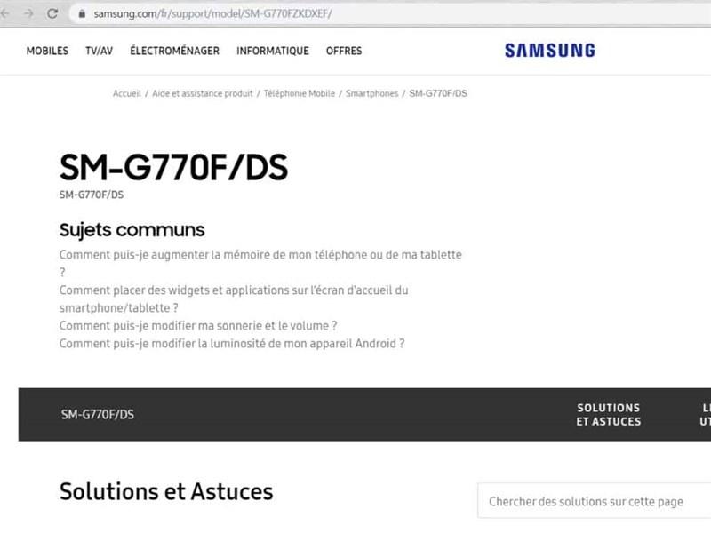 Trang hỗ trợ Samsung Galaxy S10 Lite đã được tạo