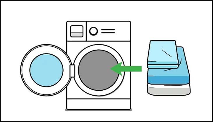 Giặt toàn bộ vải trải giường và ga nệm của bạn
