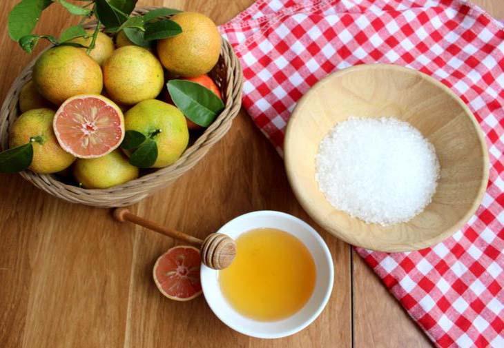 Nguyên liệu món ăn chanh đào mật ong