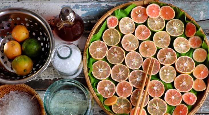 Bước 1 Sơ chế nguyên liệu Chanh đào mật ong