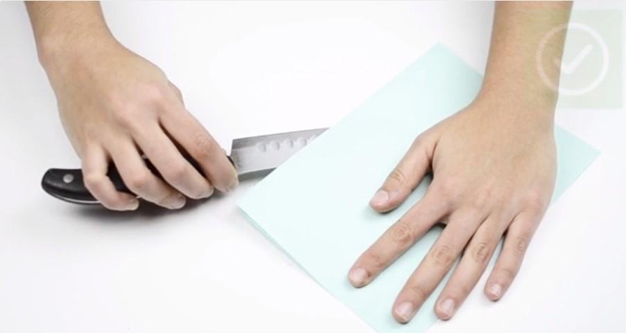 Kiểm tra độ sắc của dao