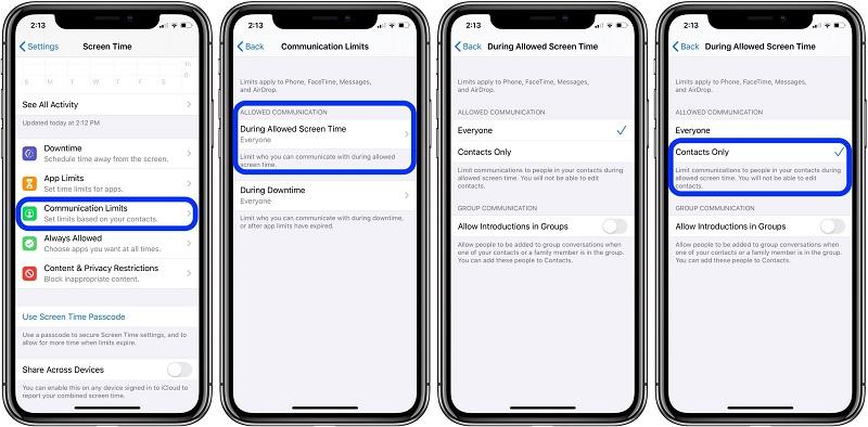 Tính năng nối bật nhất mà iOS 13.3 mang lại và Communication Limits in Screen Time