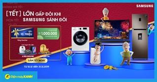Lì xì ưu đãi đến 1 triệu áp dụng trên Grab khi mua SAMSUNG