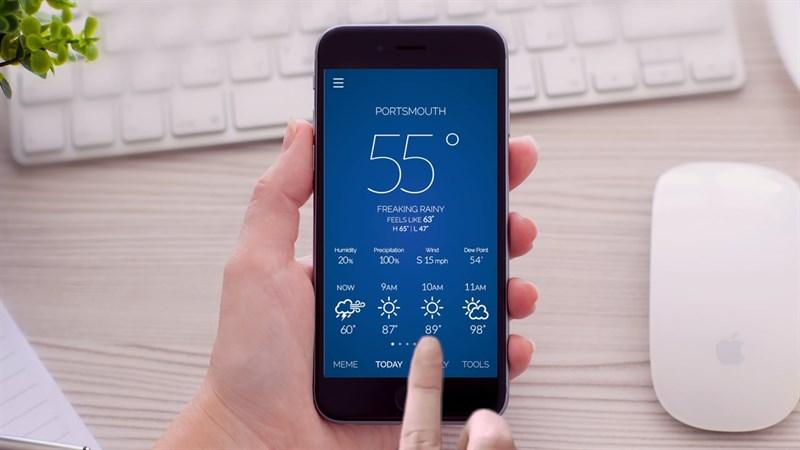 Cập nhật thời tiết trên ứng dụng Zalo