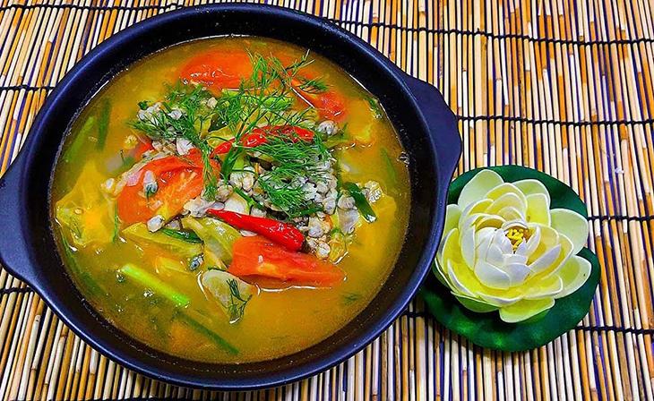 Bước 4 Thành phẩm Canh hến nấu chua