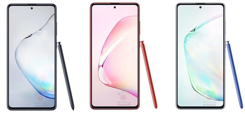 Galaxy Note 10 Lite: Hình ảnh render với nhiều màu sắc, thông số kỹ thuật chi tiết và giá bán khá phải chăng