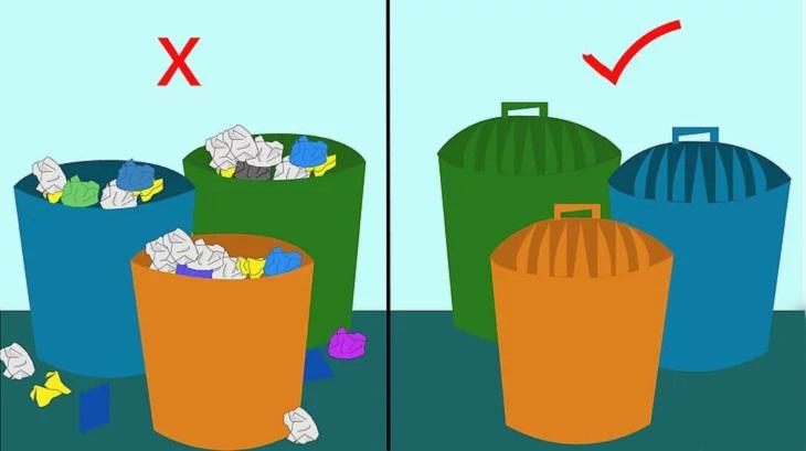 Mẹo giúp chuột tránh xa nhà bạn đậy nắp thùng rác