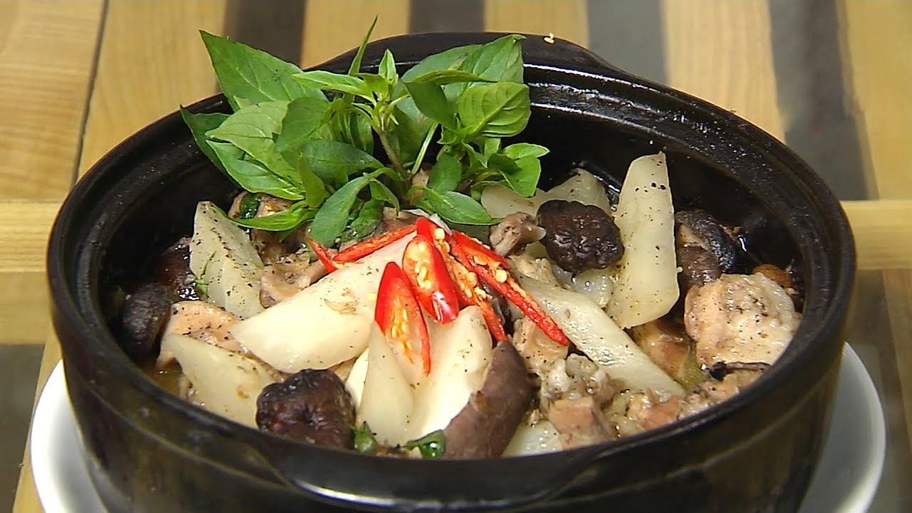 Món bao tử heo hầm nấm