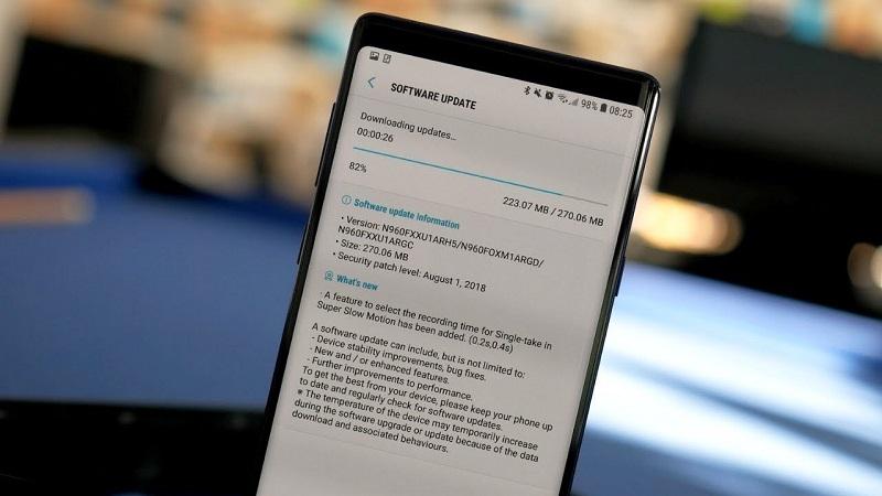 Samsung Galaxy Note 9 nhận bản cập nhật Android 10 beta thứ năm