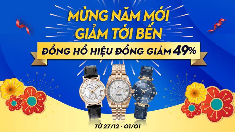 đồng hồ giảm giá năm mới