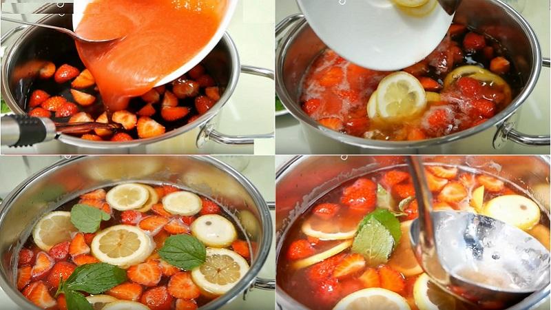 Cách làm trà dâu ngọt mát, giải nhiệt ngày nóng