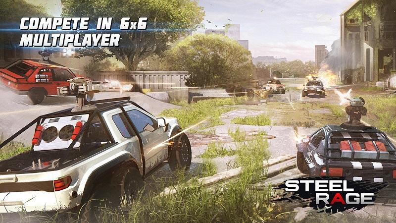 Hình ảnh trong game Steel Rage: Robot Cars PvP Shooter Warfare