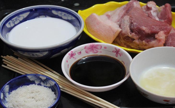 Nguyên liệu món ăn thịt xiên nướng