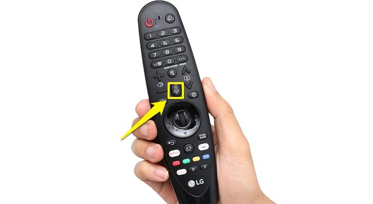 Nhấn và giữ nút micro đồng thời nói câu lệnh