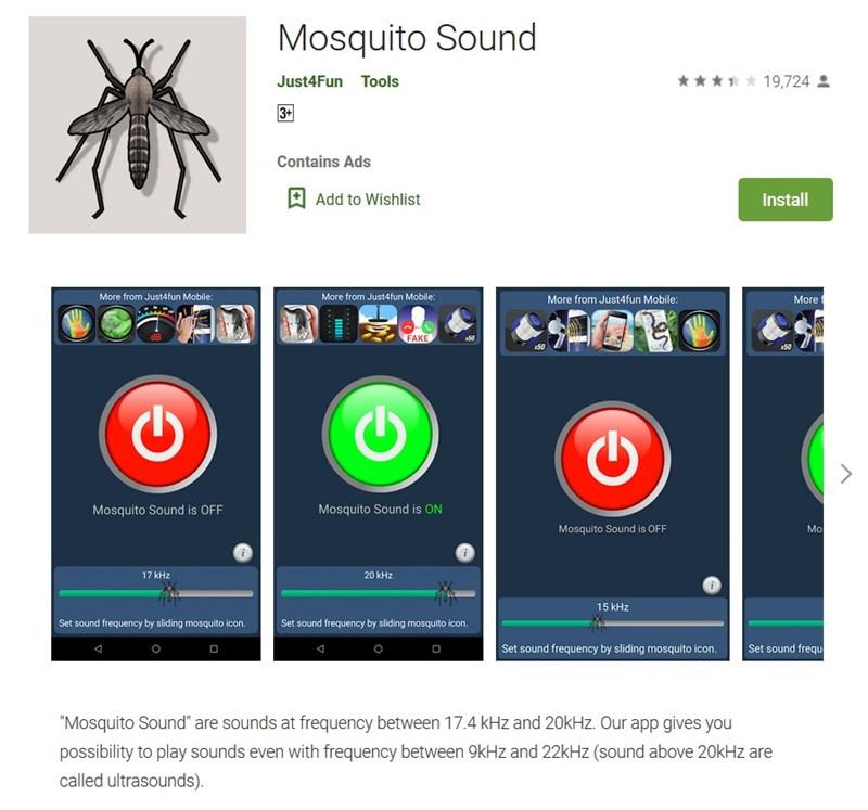 Đuổi muỗi bằng điện thoại