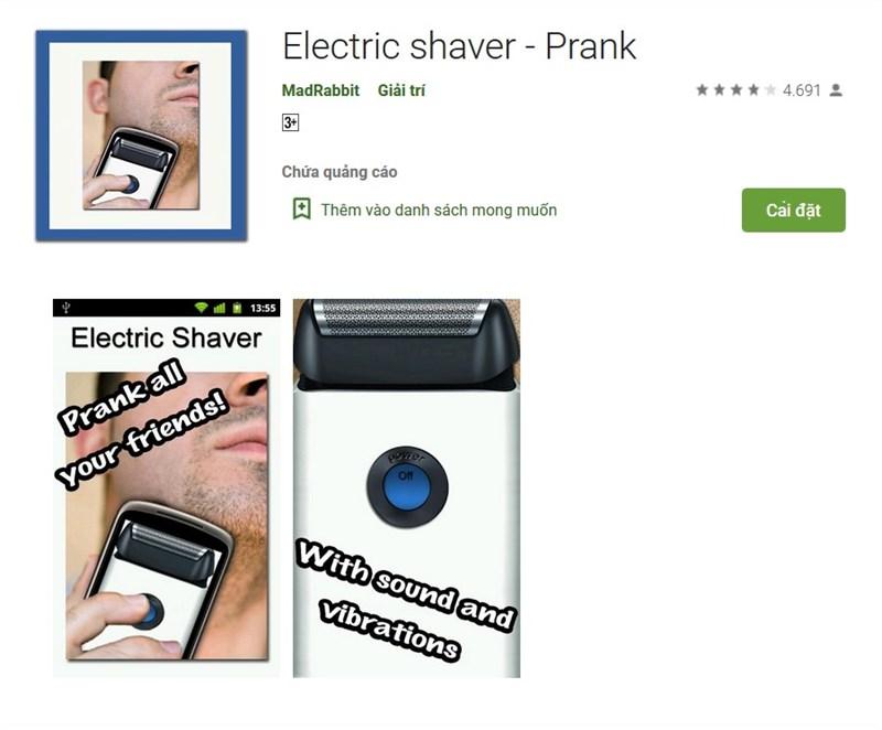 Cạo râu bằng điện thoại