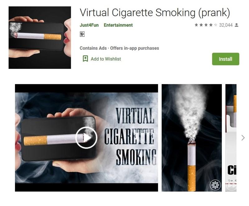 Hút thuốc bằng điện thoại