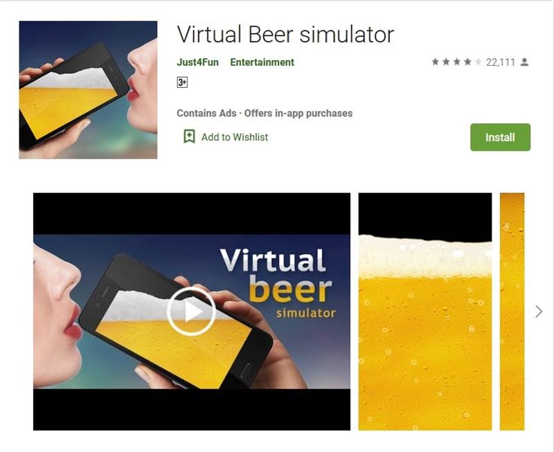 Uống bia bằng điện thoại