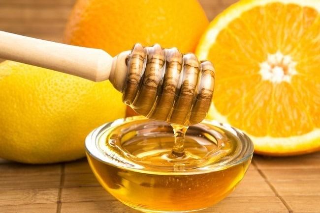 giải rượu bằng nước cam, mật ong