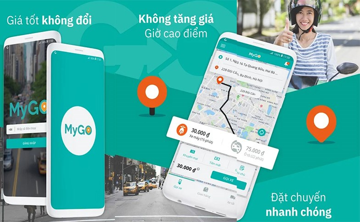 MyGo - ứng dụng gọi xe của Viettel