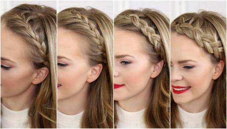 Tóc ngắn tết phần tóc mai