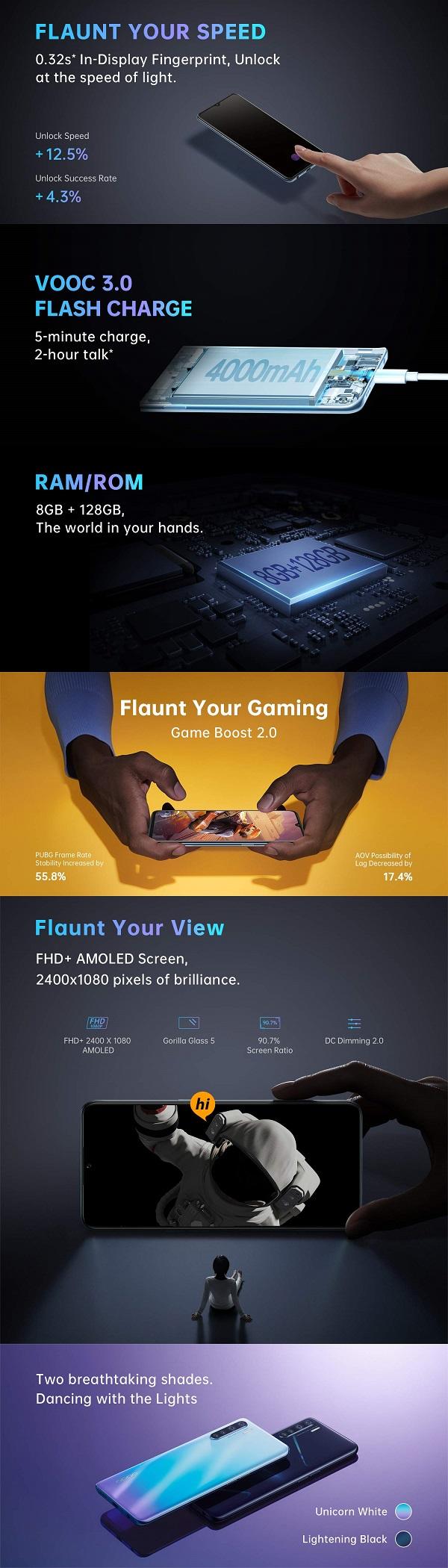 OPPO F15 ra mắt: 4 camera sau, sạc nhanh VOOC 3.0, cảm biến vân tay dưới màn hình, giá vừa túi tiền