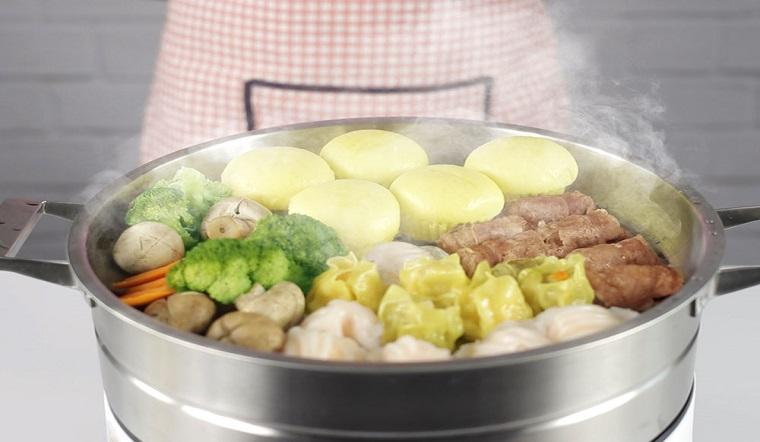 Các thực phẩm đông lạnh chế biến món hấp ăn cực ngon