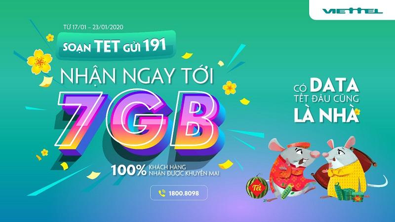 Bạn biết gì chưa? Viettel gửi tặng đến 7 GB data 4G nhân dịp Tết Canh Tý đấy, vào xem ngay cách nhận miễn phí nào!
