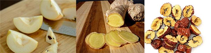 Bước 1 Sơ chế nguyên liệu Trà táo đỏ