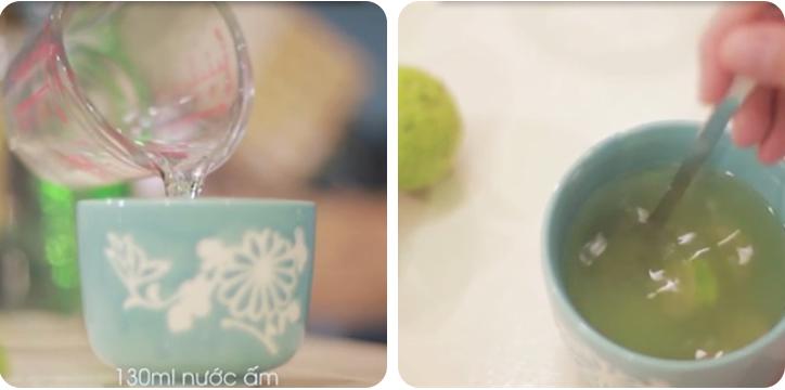 pha loãng với nước cho vừa uống